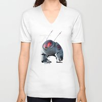 insect V-neck T-shirts featuring Large Insect by Glenn Melenhorst