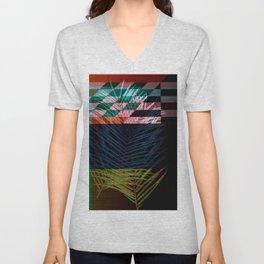 palm pattern design Unisex V-Neck