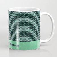 nemo Mugs featuring Finding Nemo by Matt Bacon