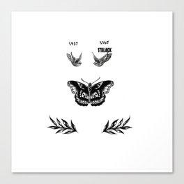 Harry's tattoo Canvas Print