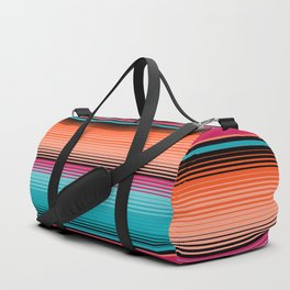 Traditional Mexican Serape in Teal Duffle Bag