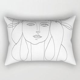 Picasso Line Art - Woman's Head Rectangular Pillow