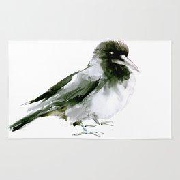 Crow, hooded crow art design Rug