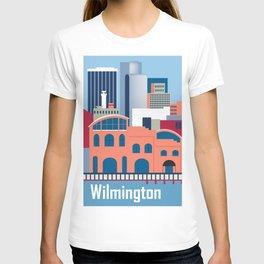 Wilmington, Delaware - Skyline Illustration by Loose Petals T-shirt