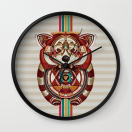 Red Panda by Giulio Rossi Wall Clock