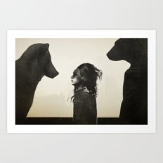 Unusual Encounter Art Print