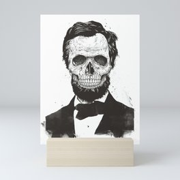 Dead Lincoln (b&w) Mini Art Print