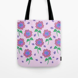 Love Buzz Pattern Pink Tote Bag