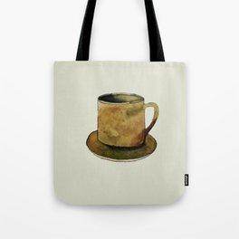 Mug on Plate Tote Bag