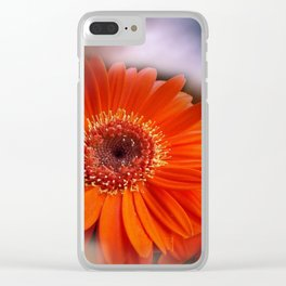 Gerbera and sky -mirrored- Clear iPhone Case
