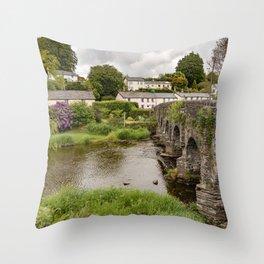 Portrait of Withypool Bridge Throw Pillow