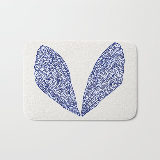Navy Cicada Wings Bath Mat