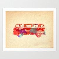 vw Art Prints featuring VW Van  by Stacia Elizabeth