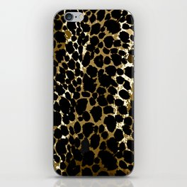 Animal Print Pattern Black and Brown iPhone Skin