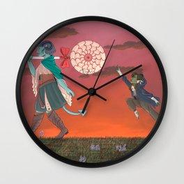 Following the Leader Wall Clock