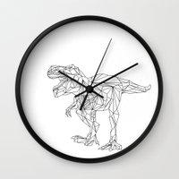 dinosaur Wall Clocks featuring dinosaur by SAOS // DESIGN