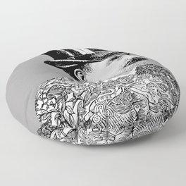 Tattooed Victorian Man Floor Pillow