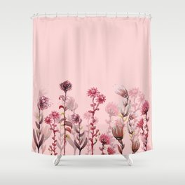 For Her ! Pink Flowers Shower Curtain
