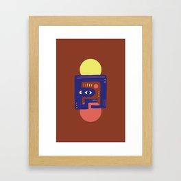 Mother Earth - Minimal Modern Mid-Century Snake Framed Art Print