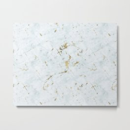 Ice Frost Marble Gold Mine Metal Print