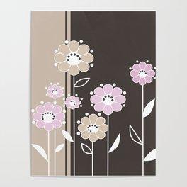 Floral applique . Retro . Poster