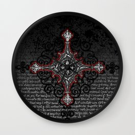Noble House II CRUSADER RED / Grungy heraldry design Wall Clock