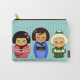 kokeshis (Japanese dolls) Carry-All Pouch