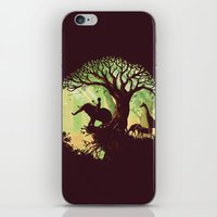 king iPhone & iPod Skins featuring The jungle says hello by Picomodi