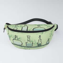 Bottles on shelves Fanny Pack