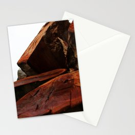Stacked high against the sky... Stationery Cards