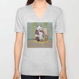 animals in chairs #3 The Panda Unisex V-Neck