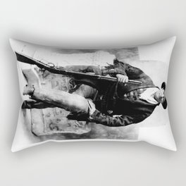 Calamity Jane, Seated with Rifle Rectangular Pillow
