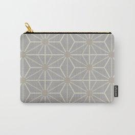 Mindful gray Japanese Asanoha (Hemp) pattern Carry-All Pouch