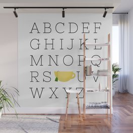 Alphabet Tea Wall Mural