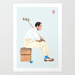 Croquet and Ink Ten Art Print