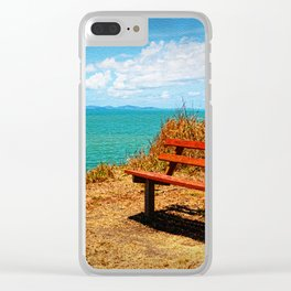 Park Bench On The Headland Clear iPhone Case