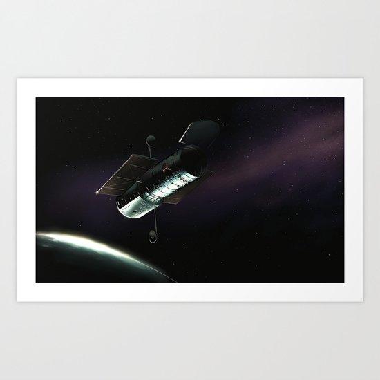 Hubble Space Telescope Art Print