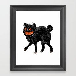 Scratch Pug Framed Art Print