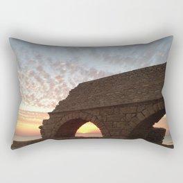 Roman Aqueduct at Sunset Rectangular Pillow