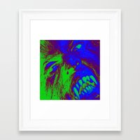 werewolf Framed Art Prints featuring Werewolf  by Nikki Hung