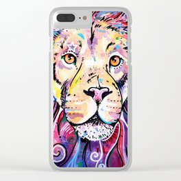 The Chief - Lion painting Clear iPhone Case
