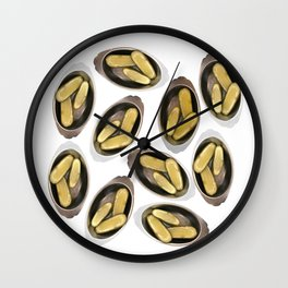 Delightful Deli Pickle Pattern From New York City Wall Clock