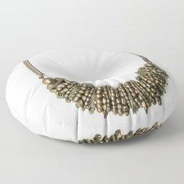 Mongolian gold necklace Floor Pillow