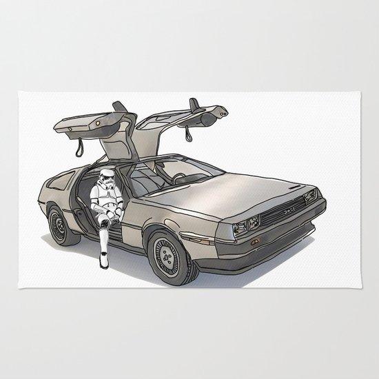 Stormtroooper in a DeLorean - star wars Rug