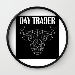 Stocks Exchange Trading Capitalism Daytrader Bull Wall Clock