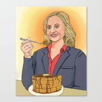 leslie knope Canvas Prints featuring Leslie Knope by Cara Andrianos
