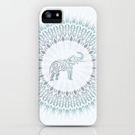 Aqua Mandala Elephant iPhone Case