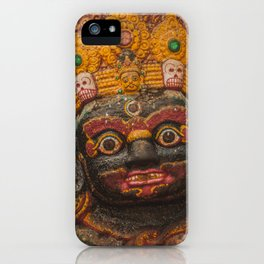 Temples and Architecture of Kathmandu City, Nepal 002 iPhone Case