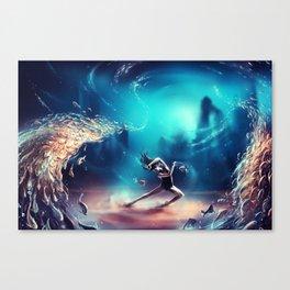 Dancing Zodiac Pisces Canvas Print