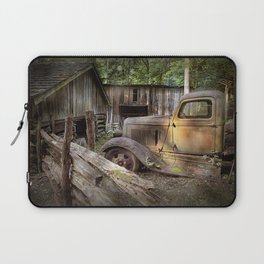 Old Farm Pickup Truck in the Smoky Mountains in Tennessee Laptop Sleeve